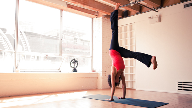 Yoga Handstand Kick Up