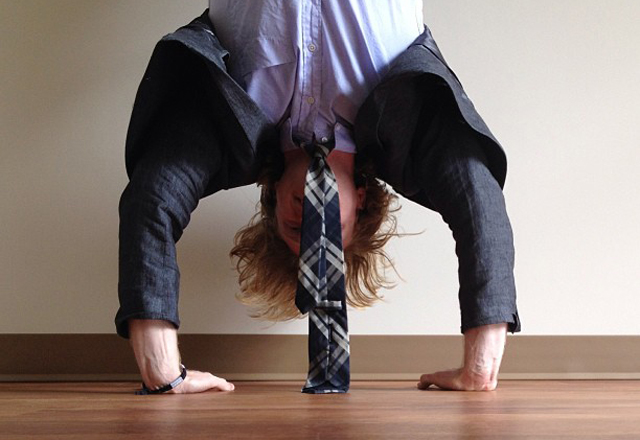 Handstand in a Suit
